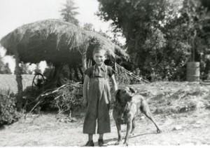 Robin enfant et chien635