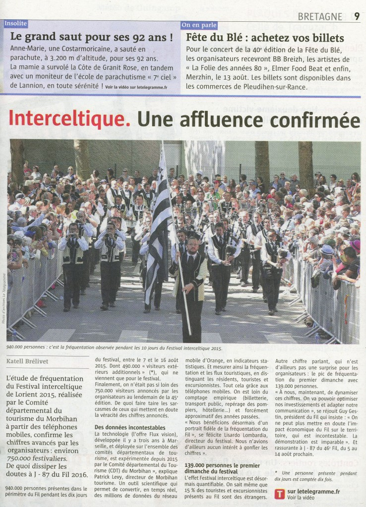 Interceltique affluence confirmée