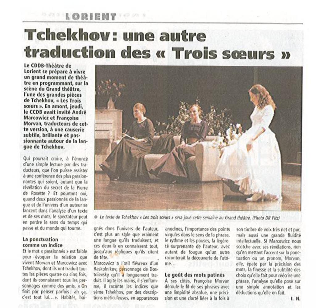 Les Trois Sœurs Françoise Morvan